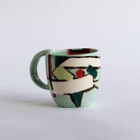 Abstract Blue mug