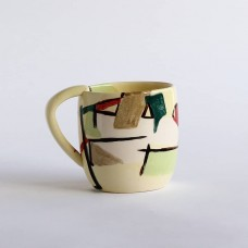 Abstract yellow mug