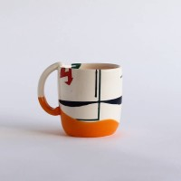 Orange Abstract - Mug